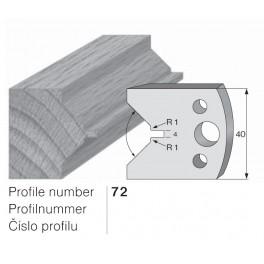 Omezovač do frézovací hlavy č. 72 40 x 4 mm PILANA