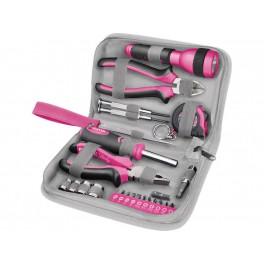 Růžová sada nářadí 23 ks Extol Craft 6595