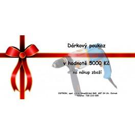 Dárkový poukaz na nákup zboží 5000 Kč   elektronický